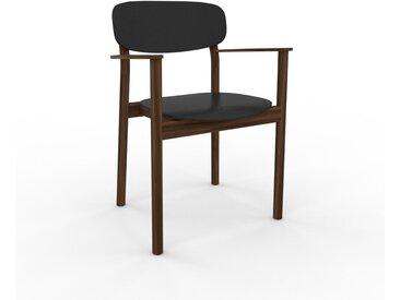 Armlehnstuhl in Schwarz 52 x 82 x 58cm einzigartiges Design, konfigurierbar