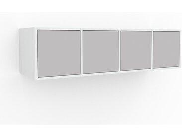 Hängeschrank Hellgrau - Moderner Wandschrank: Türen in Hellgrau - 156 x 41 x 47 cm, konfigurierbar