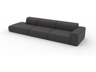 Schlafsofa Schiefergrau - Elegantes, gemütliches Bettsofa: Hochwertige Qualität, einzigartiges Design - 370 x 72 x 107 cm, konfigurierbar
