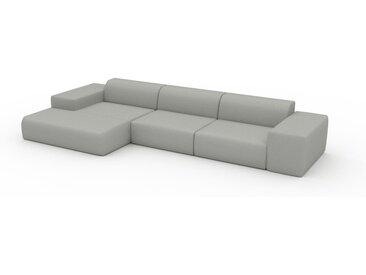 Ecksofa Lichtgrau - Flexible Designer-Polsterecke, L-Form: Beste Qualität, einzigartiges Design - 396 x 72 x 168 cm, konfigurierbar