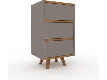 Nachtschrank Grau - Eleganter Nachtschrank: Schubladen in Grau - Hochwertige Materialien - 41 x 72 x 35 cm, konfigurierbar