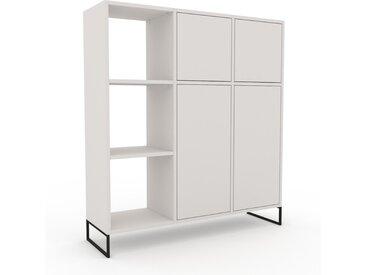 Schrank Weiß - Moderner Schrank: Türen in Weiß - Hochwertige Materialien - 118 x 130 x 35 cm, Selbst zusammenstellen