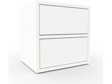 Nachtschrank Weiß - Eleganter Nachtschrank: Schubladen in Weiß - Hochwertige Materialien - 41 x 41 x 35 cm, konfigurierbar