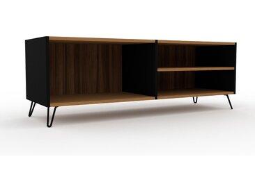 Lowboard Nussbaum, Holz - Designer-TV-Board: Hochwertige Qualität, einzigartiges Design - 152 x 53 x 47 cm, Komplett anpassbar