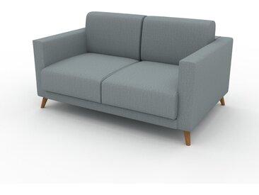 Sofa 2-Sitzer Taubenblau Webstoff - Elegantes, gemütliches 2-Sitzer Sofa: Hochwertige Qualität, einzigartiges Design - 145 x 75 x 98 cm, konfigurierbar
