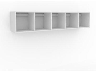 Hängeschrank Weiß - Moderner Wandschrank: Hochwertige Qualität, einzigartiges Design - 195 x 41 x 35 cm, konfigurierbar