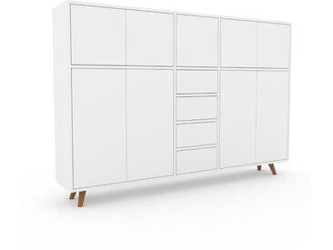 Highboard Weiß - Highboard: Schubladen in Weiß & Türen in Weiß - Hochwertige Materialien - 190 x 130 x 35 cm, Selbst designen