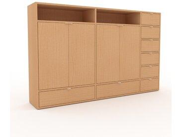 Aktenschrank Buche - Büroschrank: Schubladen in Buche & Türen in Buche - Hochwertige Materialien - 190 x 118 x 35 cm, Modular