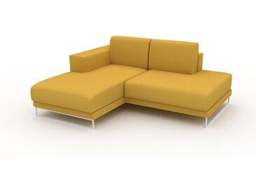 Ecksofa Rapsgelb - Flexible Designer-Polsterecke, L-Form: Beste Qualität, einzigartiges Design - 184 x 75 x 162 cm, konfigurierbar