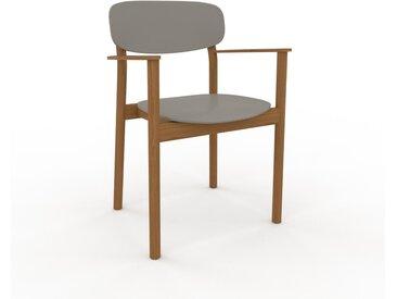 Holzstuhl in Sandgrau 52 x 82 x 58 cm einzigartiges Design, konfigurierbar