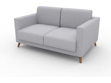 Sofa 2-Sitzer Lichtgrau Feingewebe - Elegantes, gemütliches 2-Sitzer Sofa: Hochwertige Qualität, einzigartiges Design - 145 x 75 x 98 cm, konfigurierbar
