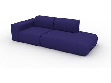Sofa Tintenblau - Moderne Designer-Couch: Hochwertige Qualität, einzigartiges Design - 243 x 72 x 107 cm, Komplett anpassbar