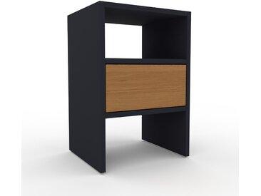 Nachtschrank Anthrazit - Eleganter Nachtschrank: Schubladen in Eiche - Hochwertige Materialien - 41 x 61 x 35 cm, konfigurierbar