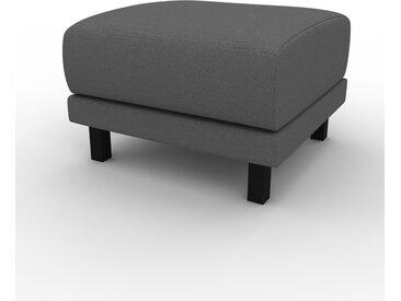 Polsterhocker Steingrau - Eleganter Polsterhocker: Hochwertige Qualität, einzigartiges Design - 60 x 42 x 60 cm, Individuell konfigurierbar
