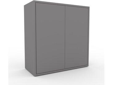 Rollcontainer Grau - Moderner Rollcontainer: Türen in Grau - 77 x 80 x 35 cm, konfigurierbar
