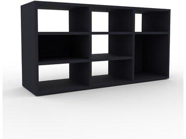 Bücherregal Anthrazit - Modernes Regal für Bücher: Hochwertige Qualität, einzigartiges Design - 118 x 61 x 35 cm, Individuell konfigurierbar