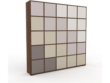 Aktenschrank Taupe - Flexibler Büroschrank: Türen in Taupe - Hochwertige Materialien - 195 x 196 x 35 cm, Modular