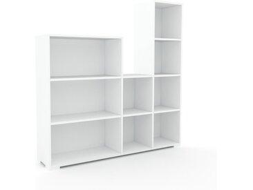 Schallplattenregal Weiß - Modernes Regal für Schallplatten: Hochwertige Qualität, einzigartiges Design - 154 x 158 x 35 cm, Selbst designen
