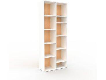 Aktenregal Weiß - Flexibles Büroregal: Hochwertige Qualität, einzigartiges Design - 79 x 195 x 35 cm, konfigurierbar