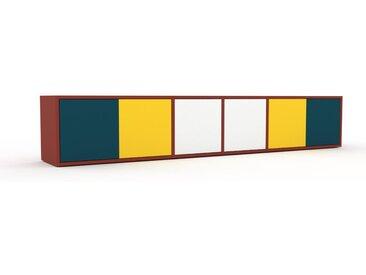 Lowboard Blaugrün - Designer-TV-Board: Türen in Blaugrün - Hochwertige Materialien - 229 x 41 x 35 cm, Komplett anpassbar