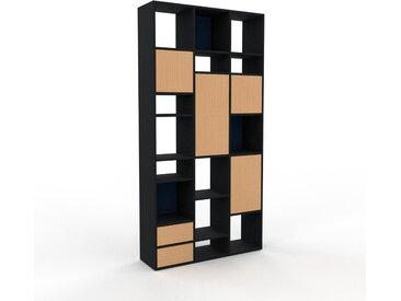 Hochschrank Buche - Moderner Schrank: Schubladen in Buche & Türen in Buche - Hochwertige Materialien - 118 x 233 x 35 cm, konfigurierbar