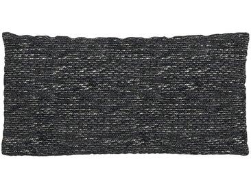 Kissen - Lavaschwarz, 40x80cm - Strukturgewebe, individuell konfigurierbar