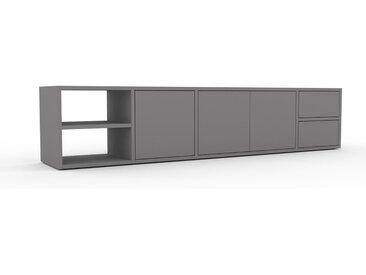 Lowboard Grau - TV-Board: Schubladen in Grau & Türen in Grau - Hochwertige Materialien - 193 x 41 x 35 cm, Komplett anpassbar