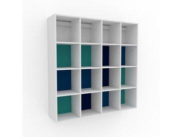 Hängeschrank Seegrün - Moderner Wandschrank: Hochwertige Qualität, einzigartiges Design - 156 x 157 x 35 cm, konfigurierbar
