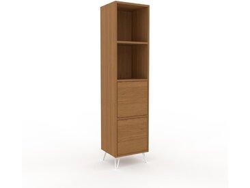 Hochschrank Eiche - Moderner Schrank: Schubladen in Eiche - Hochwertige Materialien - 41 x 168 x 35 cm, Selbst zusammenstellen