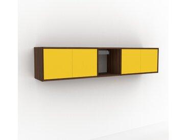 Hängeschrank Gelb - Moderner Wandschrank: Türen in Gelb - 190 x 41 x 35 cm, konfigurierbar