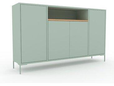 Sideboard Mint - Designer-Sideboard: Türen in Mint - Hochwertige Materialien - 154 x 91 x 35 cm, Individuell konfigurierbar