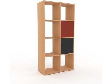 Regalsystem Buche - Flexibles Regalsystem: Türen in Graphitgrau - Hochwertige Materialien - 79 x 157 x 35 cm, Komplett anpassbar