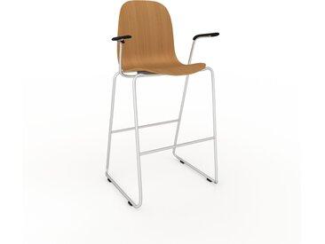 Barhocker in Eiche 49 x 113 x 62 cm einzigartiges Design, konfigurierbar