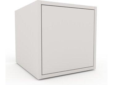 Nachtschrank Weiß - Eleganter Nachtschrank: Türen in Weiß - Hochwertige Materialien - 41 x 41 x 47 cm, konfigurierbar