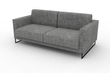 Sofa 2-Sitzer Steingrau Melierte Wolle - Elegantes, gemütliches 2-Sitzer Sofa: Hochwertige Qualität, einzigartiges Design - 184 x 75 x 98 cm, konfigurierbar