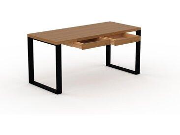 Bürotisch Massivholz Eiche - Moderner Massivholz-Bürotisch mit 2 Schublade/n - 160 x 75 x 70 cm, konfigurierbar