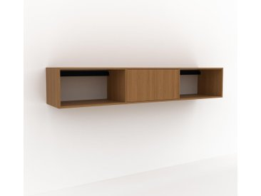 Hängeschrank Eiche - Moderner Wandschrank: Türen in Eiche - 226 x 41 x 47 cm, konfigurierbar