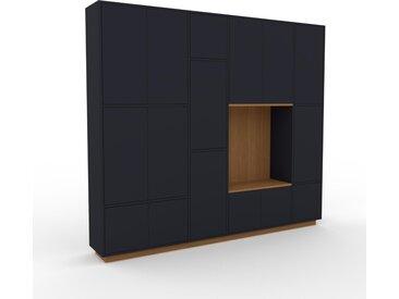 Schrankwand Anthrazit - Moderne Wohnwand: Türen in Anthrazit - Hochwertige Materialien - 229 x 200 x 35 cm, Konfigurator