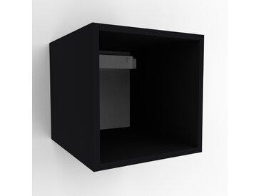 Hängeschrank Schwarz - Moderner Wandschrank: Hochwertige Qualität, einzigartiges Design - 41 x 41 x 47 cm, konfigurierbar