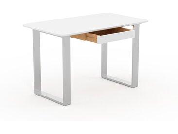Schreibtisch Massivholz Weiß - Moderner Massivholz-Schreibtisch: mit 1 Schublade/n - Hochwertige Materialien - 120 x 75 x 70 cm, konfigurierbar
