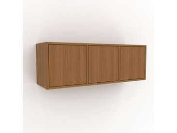 Hängeschrank Eiche - Moderner Wandschrank: Türen in Eiche - 118 x 41 x 35 cm, konfigurierbar