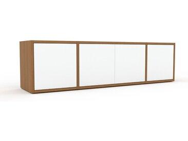 Sideboard Weiß - Designer-Sideboard: Türen in Weiß - Hochwertige Materialien - 154 x 41 x 35 cm, Individuell konfigurierbar