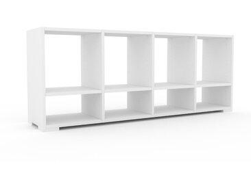 Bücherregal Weiß - Modernes Regal für Bücher: Hochwertige Qualität, einzigartiges Design - 156 x 62 x 35 cm, Individuell konfigurierbar