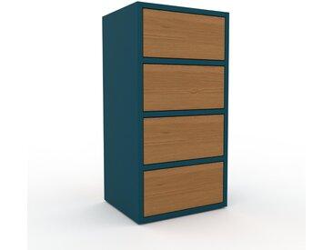 Aktenschrank Eiche - Flexibler Büroschrank: Schubladen in Eiche - Hochwertige Materialien - 41 x 80 x 35 cm, Modular