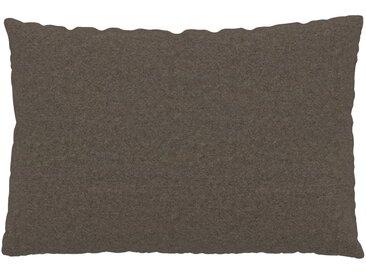 Kissen - Graubraun, 40x60cm - Wolle, individuell konfigurierbar