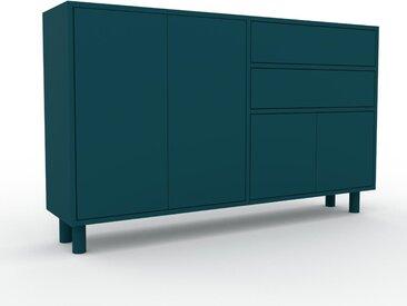 Sideboard Blaugrün - Sideboard: Schubladen in Blaugrün & Türen in Blaugrün - Hochwertige Materialien - 152 x 91 x 35 cm, konfigurierbar