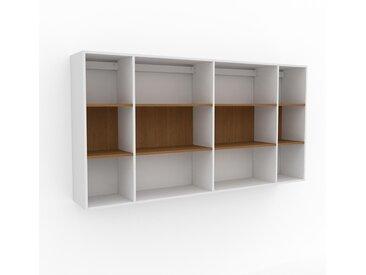 Hängeschrank Eiche, Holz - Moderner Wandschrank: Hochwertige Qualität, einzigartiges Design - 229 x 118 x 35 cm, konfigurierbar