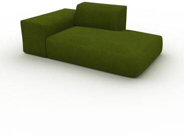 Sofa Samt Olivgrün - Moderne Designer-Couch: Hochwertige Qualität, einzigartiges Design - 182 x 72 x 107 cm, Komplett anpassbar