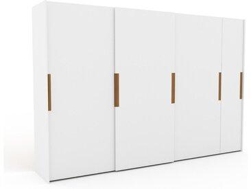 Kleiderschrank Weiß - Individueller Designer-Kleiderschrank - 354 x 233 x 65 cm, Selbst Designen, Böden/hohe Schublade/Kleiderstange