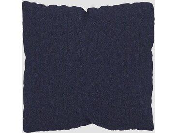 Kissen - Nachtblau, 40x40cm - Wolle, individuell konfigurierbar